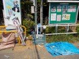 市内 公園引込柱修繕