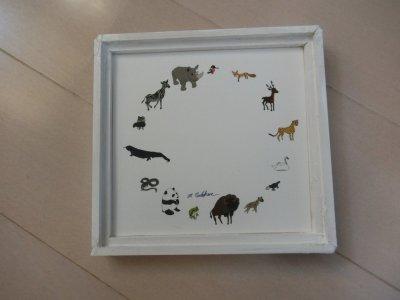 動物のイラストシリーズ(額入り)