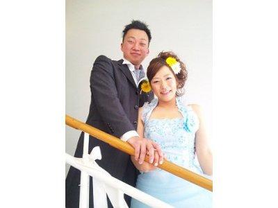 結婚式~お色直し編~ブルーのカラードレス