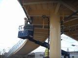 市内 歩道橋電灯設置工事