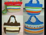 イタリアンの糸で編んだバッグが出来ました。