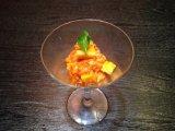 チャンジャと燻製チーズのカクテル